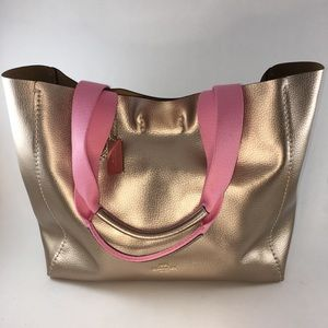 Coach Derby Tote Leather Rose Gold- NWT!